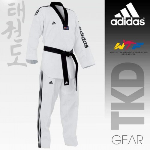 Taekwondo Uniform adidas - SUPER MASTER II Black Collar